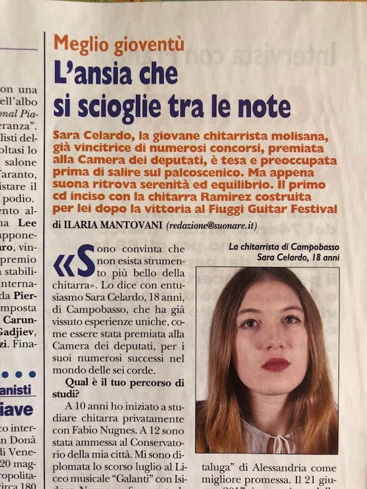 La giovanissima Sara Celardo si esibirà in un concerto per chitarra sola a Nuoro.